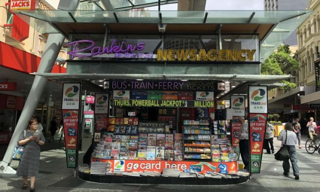 Council evicts owner of landmark Queen Street Mall newsstand