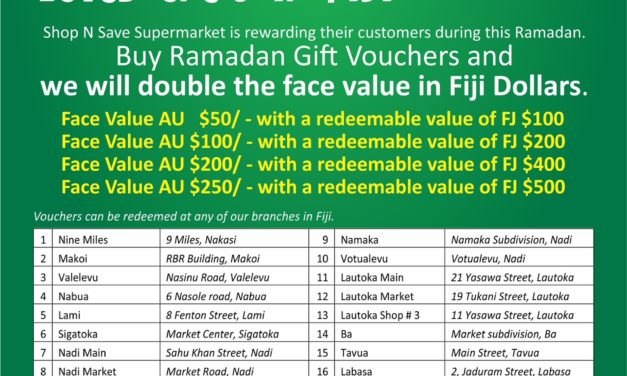 Buy Ramadan Gift vouchers in Fiji