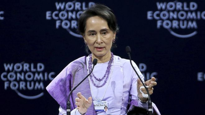 Aung San Suu Kyi defends verdict against Reuters journalists